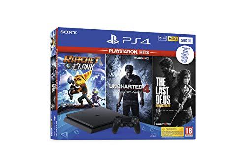 Scopri offerta per Playstation 4 Slim 500GB F Chassis + Rachet & Clank + The Last Of Us (Remastered) + Uncharted 4 [Esclusiva Amazon.it]