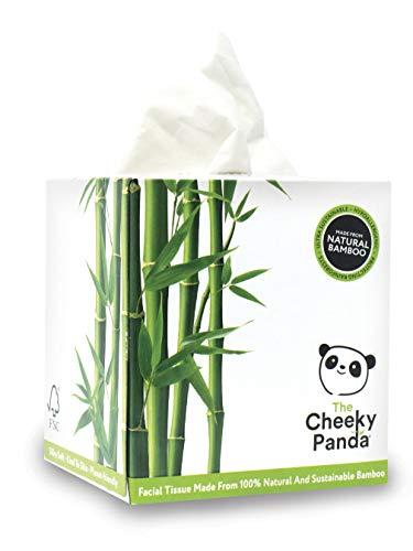 The Cheeky Panda – Mouchoirs en Bambou, Boîte de 56 mouchoirs (3 épaisseurs), Cube, Hypoallergénique, Sans Plastique, Écologique, Super Doux, Résistant & Durable CUBFT