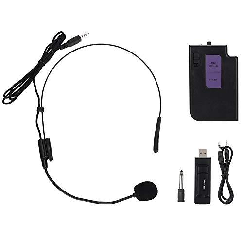 Amplificador de voz portátil con auriculares con micrófono, altavoz con pretina USB inalámbrico Amplificador de voz Amplificador Micrófono para profesores, canto, entrenadores, capacitación, guía turí