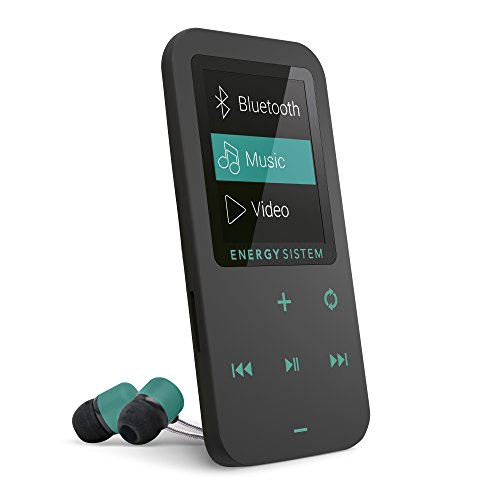 Energy Sistem MP4 Touch Bluetooth (Reproductor de música MP4 Bluetooth, 8 GB, Botones táctiles, Radio FM y Lector de Tarjeta microSD) – Verde Mint