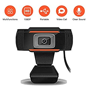 1080P Webcam, NETUM HD 12.0M Pixels 30fps, 180 Degrees Vertical Video Calling Computer Web Camera with Microphone & USB 2.0, Auto White Balance, Color Correction, for Windows 2000/XP/7/8/10/Vista