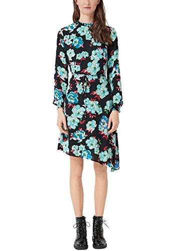 s.Oliver Damen 14.901.82.7206 Kleid, Schwarz (Black Floral Print 99c3), (Herstellergröße: 36)