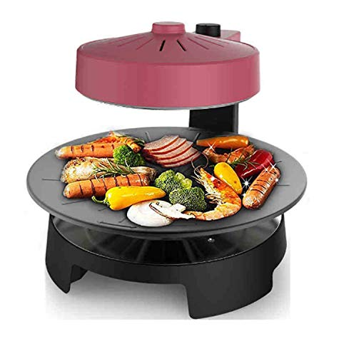417dpEmT4wL - WJJJ New BBQ Poke Hot Pot Non-Stick All Powerful Stovetop Grill Maschine Smoke-Free Baking Electric Multifunctional Pan Multi Purpose Pot Korean Style Black Kitchen Pot