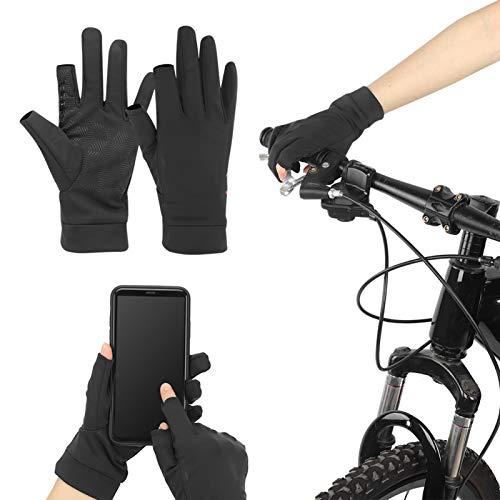 FOLOSAFENAR Guantes Deportivos de protección Solar de Verano cómodos con diseño de Medio Dedo, para Bicicletas de Ocio