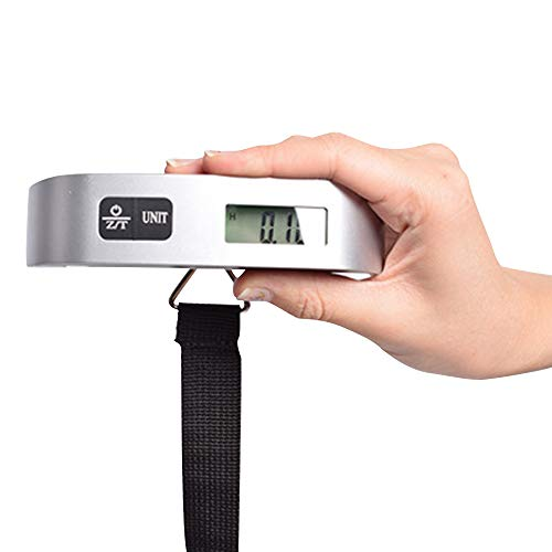 Olmecs Digital Luggage Scale, Portable Handheld Baggage Scale for Travel, Suitcase Scale with Hook,110 Pounds, Battery Included