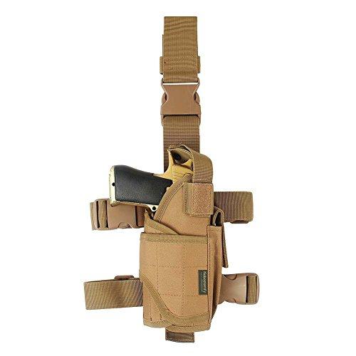 Drop Leg Holster, Right Handed Tactical Thigh Pistol Gun Holster Leg Harness (XL)