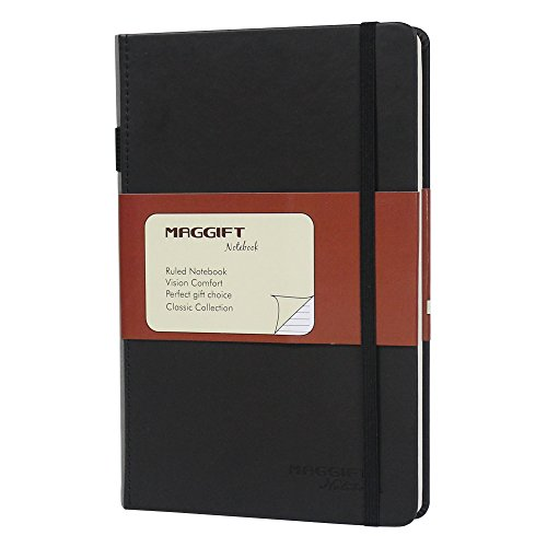 Maggift Hardcover Notebook, Thick Classic Notebook with Pen...