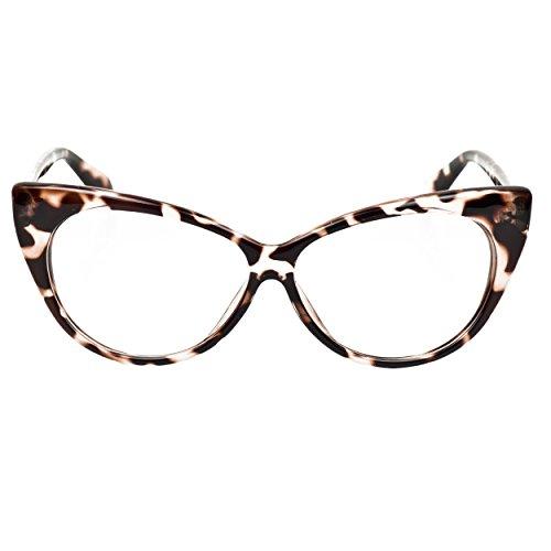 iB-iP Donna Occhi Di Gatto Occhiali Da Vista Con Lenti Chiare, Leopardo