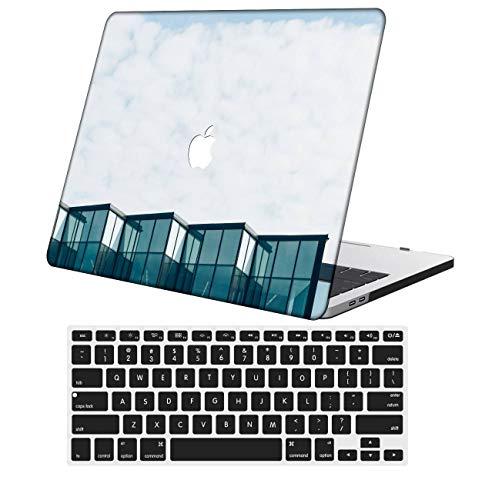 NKDCase Case for MacBook Pro 13 inch Retina Model A1425/A1502 Cut Out Design,Plastic Ultra Slim Light Hard Case Keyboard Cover Compatible MacBook Pro 13 inch No CD ROM/Touch,Purple Series 0551
