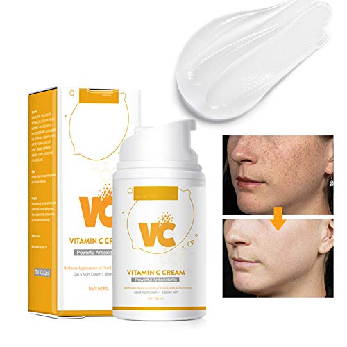 Vitamin C Moisturizer - Anti Aging Anti Wrinkle Cream, Wrinkles, Hyperpigmentation, Acne, Dark Spot Corrector for Face, Men Women,50ml