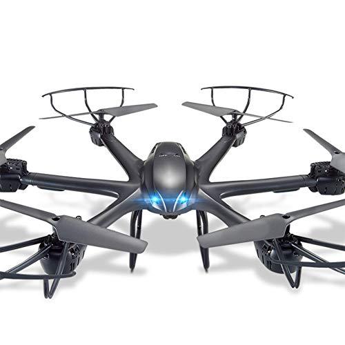 Drone mit Kamera, Hexacopter mit Live-Übertragung, 2.4G Hz WiFi FPV, Start/Landung mit einem Knopf, 3D-Flip, Headless Modus Trajektorie Flug Black