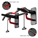 Ai xin Pull Up Bars Wall Mounted Multi-Grip Chin-up Station, Chin Up Bar Upper Body Workout Bar for Home Gym Exercise Workout Equipment, Heavy Duty Doorway Chin-Up Bar withPull Rope, Removable Design