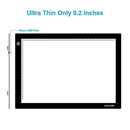 Huion L4S LED Light Box A4 Ultra-Thin USB Powered Adjustable Light Pad for Tracing