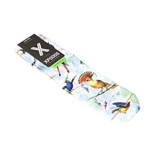 Xpooos Socken kurz – 1 Paar – Flachnähte – Vogel – Amelie Gr. One size, weiß