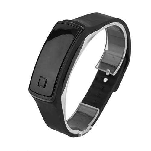 Detectorcatty Korean Style Fashionable Men Women Lovers LED Touch Screen Digital Smart Watch TPU Sport Data Time Display Watch