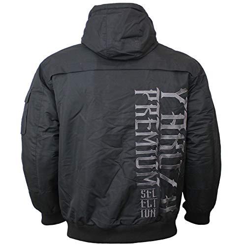 Yakuza Premium Herren Winterjacke 2765 schwarz mit Kapuze