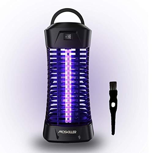 Lukasa Lámpara Mosquito Electrico, Lámpara 6W UV Luz Lampara para Mata Mosquitos y Repelente Insectos, Control Insecto Efecto 30m² (Negro Oscuro)