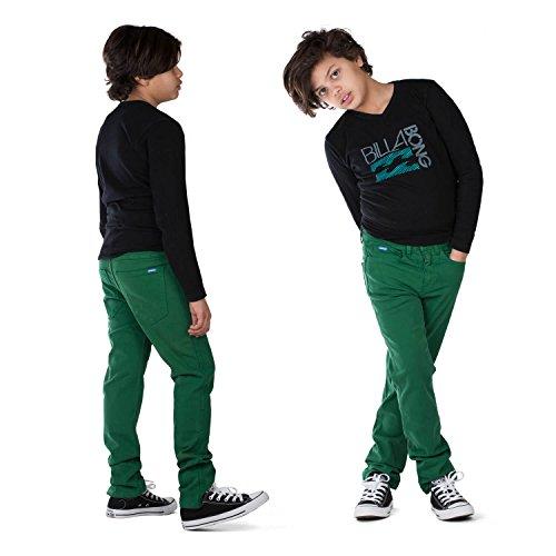 Superslick Kinderhose Slim fit Jungen Jeans Hose mit Stretch Kinder Größe 146-170 (146, grün)