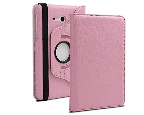 For Samsung Galaxy Tab 3 Lite 7'SM-T110 T111 Tab E 7.0' SM-T113 T116 Tablet Case 360 ​​Rotating Flip Leather Cover Capa Capa-Rosa