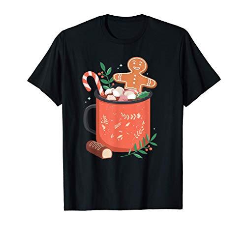 Heiße Schokolade Tasse Lebkuchen Plätzchen Weihnachten T-Shirt