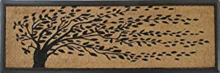 A1 Home Collections First Impressions Hand-Crafted Rubber Coir Tree Double Door Mat, 16