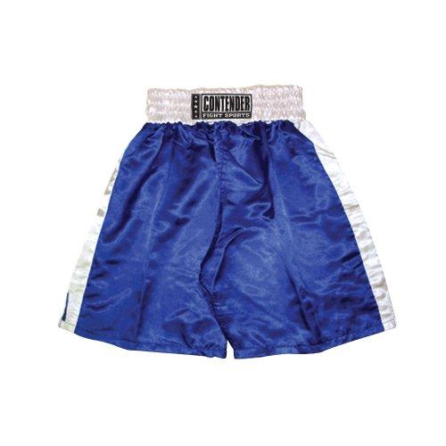 Contender Fight Sports In-Stock Trunks (Blue-White, Medium)