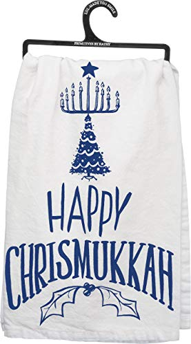 Primitives by Kathy Dish Towel - Happy Chrismukkah
