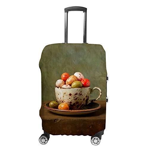 CHEHONG - Copertura per valigia da viaggio, lavabile e antipolvere, in poliestere resistente all'acqua, adatta a 45,72 cm, antigraffio, per cioccolato, uova di Pasqua