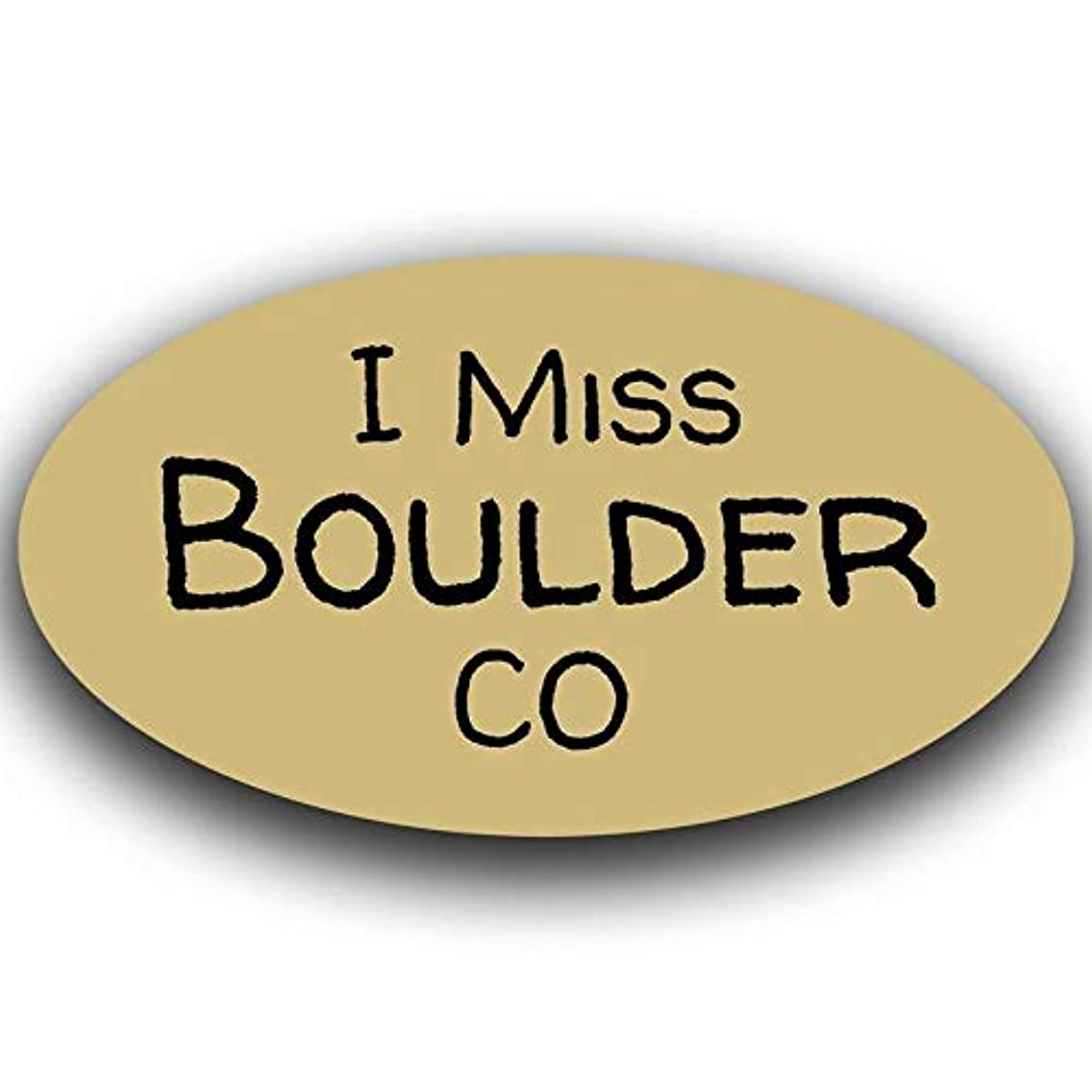 More Shiz I Miss Boulder Colorado Decal Sticker Travel Car Truck Van Bumper Window Laptop Cup Wall - One 5.5 Inch Decal - MKS0451