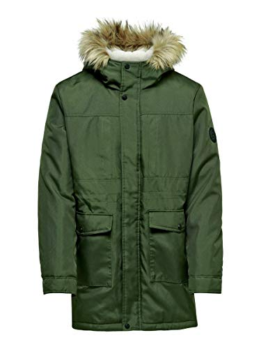 ONLY & SONS Male Parka Langer XSForest Night