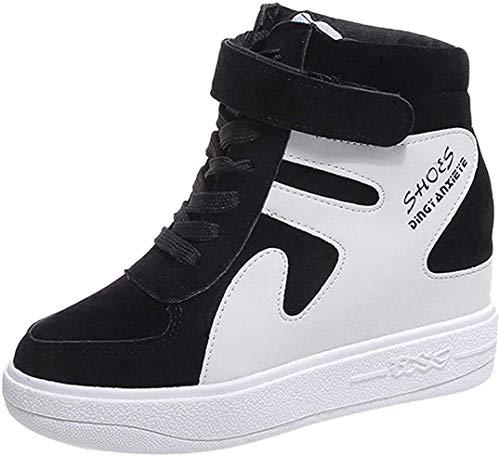 Zapatillas de Cuña Plataforma Deportivo de Terciopelo para Mujer Otoño Invierno 2018 Moda PAOLIAN Cómodos Zapatos de Alta Ayuda Señora Casual Calzado Impermeables Dama Talla Grande Espadrilles