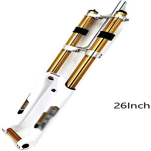 Suspensión Tenedor 26 29 Frente Tenedor de bicicletas de montaña BTT con suspensión neumática Presión de bicicletas Amortiguador rebote de las horquillas Ajuste la Llave de tubo recto doble del hombro