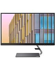 """Lenovo Q24h-10 monitor o przekątnej 60,45 cm (23,8""""), 2560 x 1440, WQHD, 75Hz, WideView, z powłoką antyodblaskową, HDMI, DisplayPort, czas reakcji 4 ms, AMD Radeon FreeSync), szary"""
