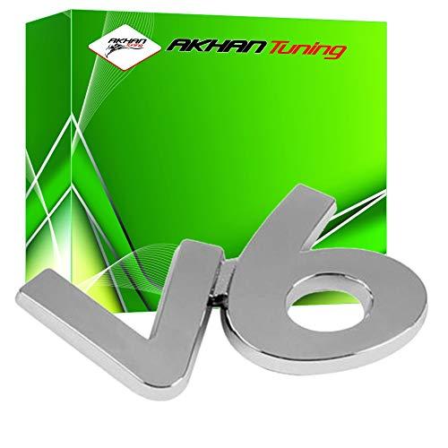 Akhan 3D07227 - Chrom 3D Schriftzug Emblem Logo V6
