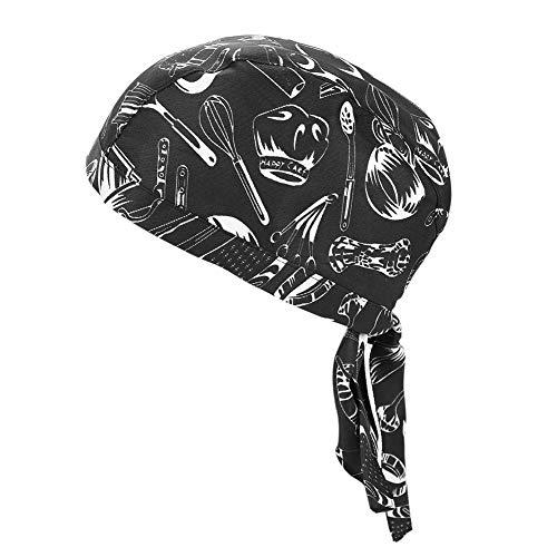 Bandana de Clyclisme Sport Coton Calotte de Vélo Moto VTT Sous Casque Anti-vent Turban Bonnet Cuisine Pirate Hip-hop Absorbe Transpiration Respirant Chapeau Foulard de Tête Extérieurpour Homme Femme