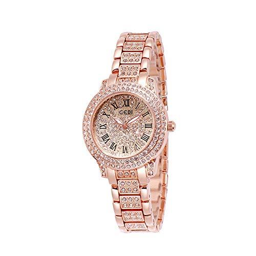 YIBOKANG Moda para Mujer Tendencia Casual Taladro De Agua Placa De La Tabla Cinturón De Aleación 30M Reloj De Cuarzo Impermeable