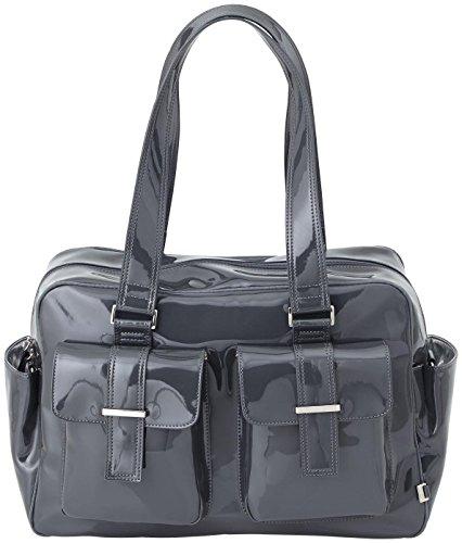 OiOi Patent Carryall Diaper Bag, Gunmetal