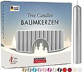 Brubaker 20 Paquete de Cera para Velas de Árbol - Velas de Navidad Velas Piramidales Velas de Árbol de Navidad - Plata