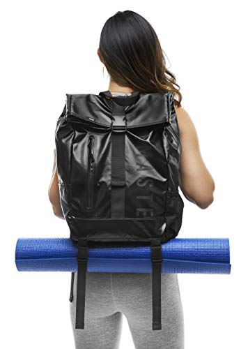Masaya Yoga Mat Backpack with Shoe Bags- Lightweight, Multi-Purpose Backpack- Waterproof 25L Sport Gym Tote Bag for Travel, Hiking, School- Laptop Carrier- Carry Mat, 8 Pockets- Holds up to 30 lb
