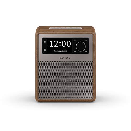 sonoro Easy Digitalradio 2018 (UKW/FM/DAB+, AUX-in, USB, Bluetooth, Wecker) Walnuss