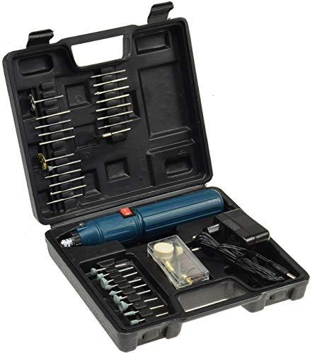 Gravur Schleif Werkzeug Akku Bohrmaschine mit 51 Werkzeugen Schleifen Reinigen Gravieren inkl. Transport Koffer