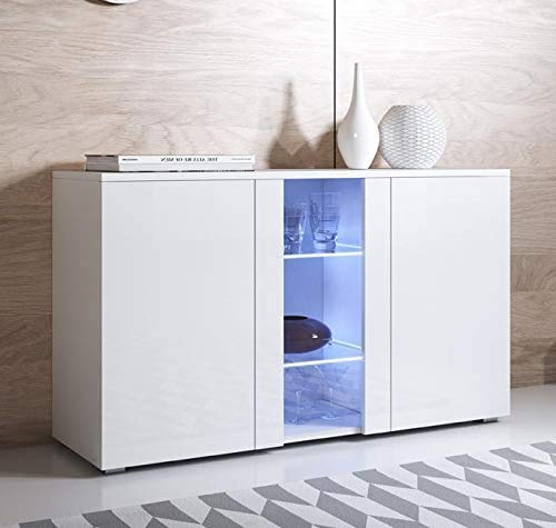 Elegant und modern minimalistischer Stil mit einem glänzenden Gehäuse Meal Seite perfekt zu Ihnen nach Hause Dekor angepasst,White