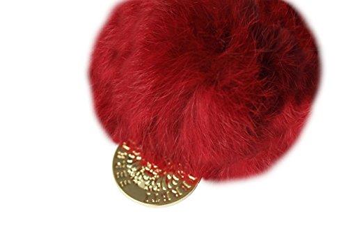 FERETI Rot Pompon Anhänger Schlüsselanhänger Kaninchen