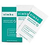 Zimba Teeth Whitening Strips - Zimba Whitening Strips - Teeth Whitening Formulated for Sensitive Teeth - White Strips Teeth Whitening - Natural, Enamel-Safe Whitening Strips (1 Pack, Spearmint)
