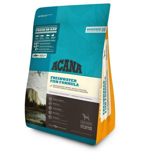 ACANA Freshwater Fish Dry Dog Food 4.5 lb. with Rainbow Trout, Blue Catfish & Yellow Perch