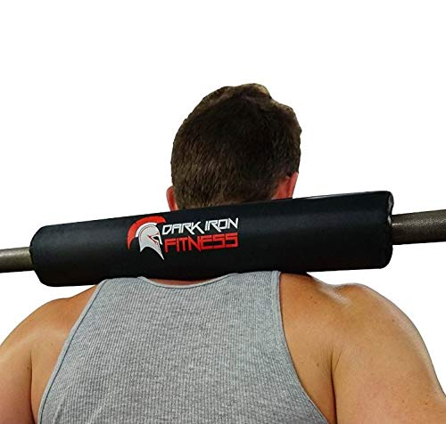 Dark Iron Fitness 17 Inch Extra Thick Barbell Neck Pad  Shoulder Support for Weight Lifting Crossfit Powerlifting and More  Fits 2 Inch Olympic Size Bars and a Smith Machine Bar Perfectly