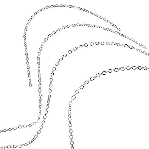 Chaine pour Bola de Grossesse ou Sautoir - Collier Plaqué Argent Véritable - Bijou 114cm avec Fermoir - Cadeau Femme Enceinte - Conception Française