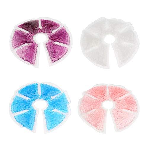Milageto 4pcs Comfort Gel Bead Ice Pack Almohadilla Fría Caliente Enfermera Problema de Mama