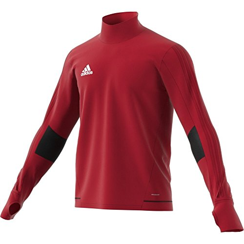 adidas Herren Tiro 17 Training Sweatshirt, rot (Powred/Black/White), XS