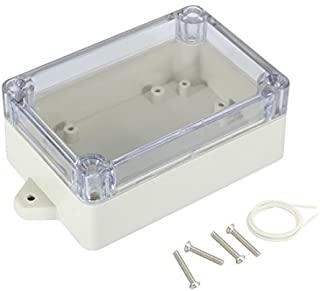"Awclub Waterproof Dustproof ABS Plastic Junction Box Universal Electric Project Enclosure with PC Clear Transparent Cover 3.9""x2.7""x1.6""(100mmx68mmx40mm)"